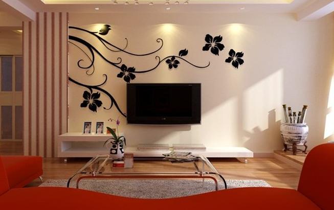 客厅装修 硅藻泥做的电视背景墙你知道
