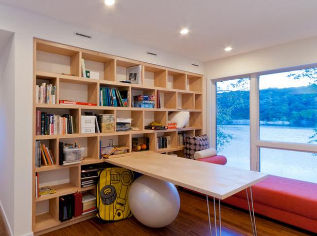 小书房装修,书柜怎么放?