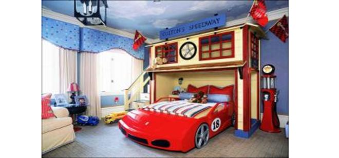 个性十足的儿童房装修效果图(1)