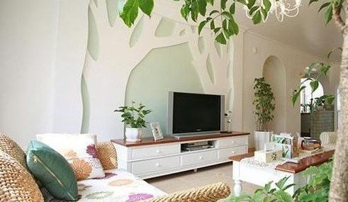 田园风格电视背景墙 将自然带回家