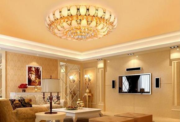 客厅水晶灯吊顶的多风水禁忌