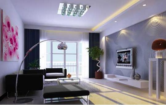 客厅装修 常见的电视背景墙