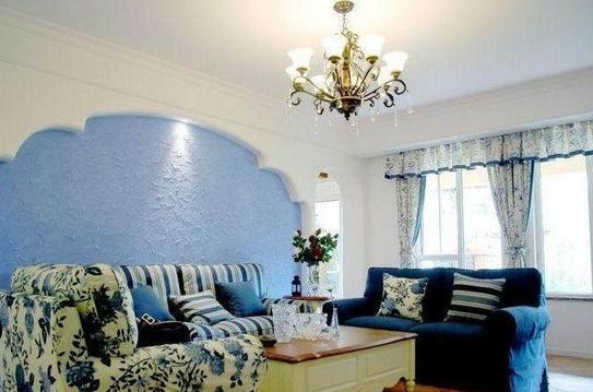 地中海风格窗帘的效果图供你点评!