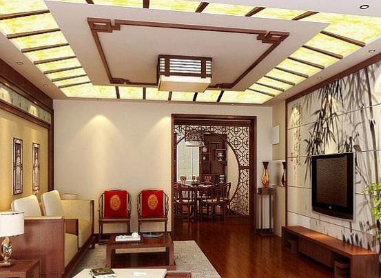 中式风格客厅吊顶,效果让人很惊喜呢!