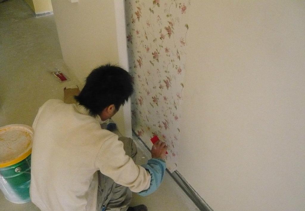 家庭装修之壁纸的基本贴法