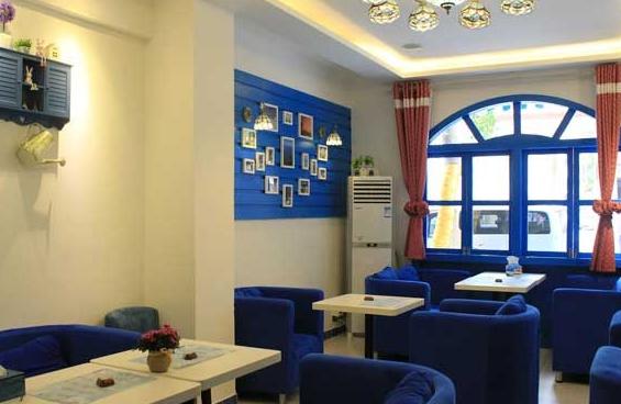 别样的地中海风格咖啡厅设计!