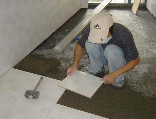 地板砖干铺法与湿铺法的区别