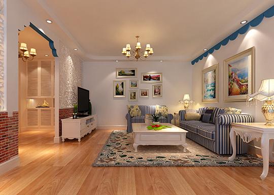 地中海风格客厅,打造浪漫舒适的空间!