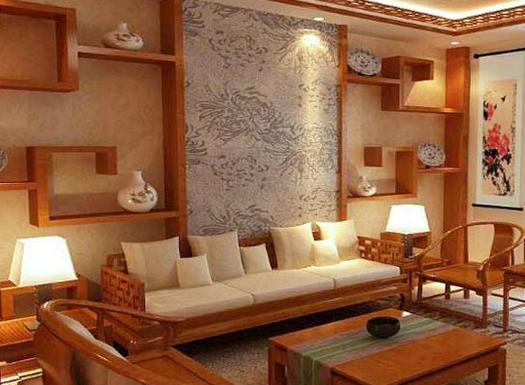 、现代风格壁纸和韩式风格壁纸等。这些壁纸其实也可以作为中式风格墙面设计,选择墙纸作为中式风格墙面装饰材料的时候,一定要选择好墙纸的颜色,不能跟中式风格家装颜色有冲突。   中式风格墙面设计之装饰画   除了在墙面上设计墙纸壁纸,中式风格墙面上也可以用一些装饰画来布局,特别是带有明显中式风格韵味的装饰画,用在中式风格墙面上有很好的展示效果。比如说运财童子之类的吉祥寓意图、瀑布东流之类的山水画、龙吟虎啸之类的动物画和孔子讲经之类的人物画等,这些装饰画都可以中式风格墙面的装饰。    中式风格墙面设计之瓷砖石材