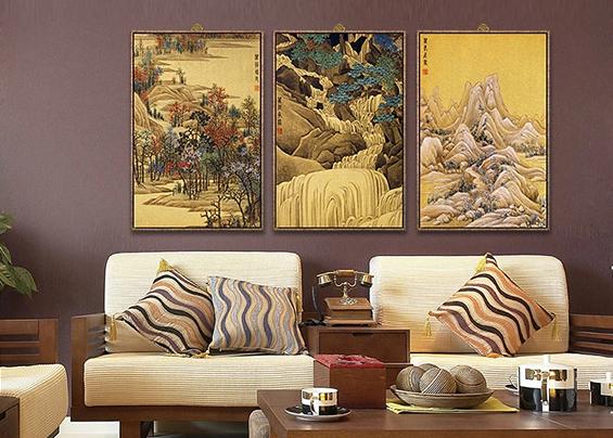 中式风雅意境,中式风格装饰画来实现!