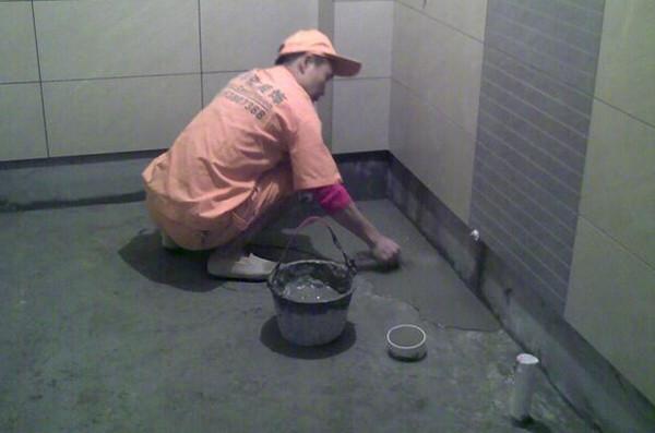 卫生间防水涂料施工
