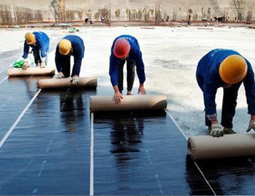 屋面防水卷材施工