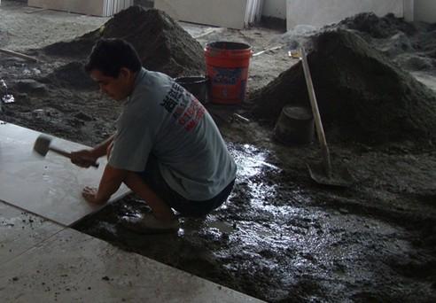 泥工施工之地砖铺贴