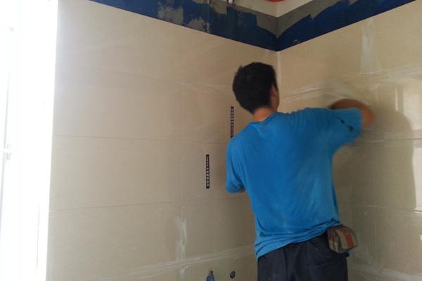 泥工施工之墙砖铺贴