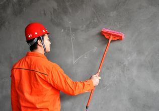 防水涂料涂刷前要清理好墙面