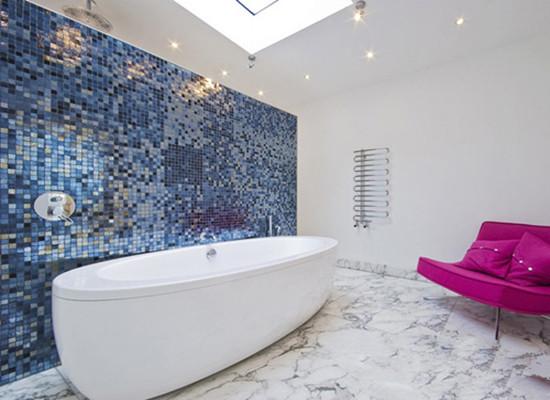 马赛克浴室背景墙