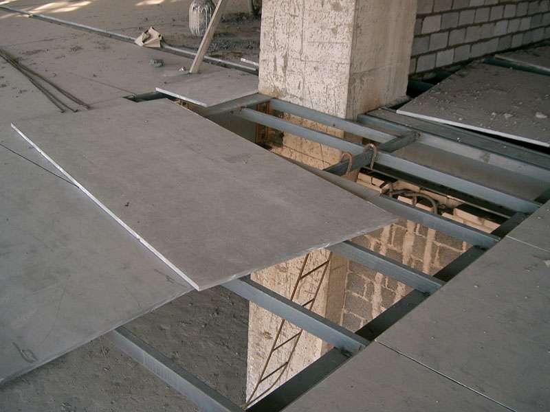 水泥纤维板施工现场
