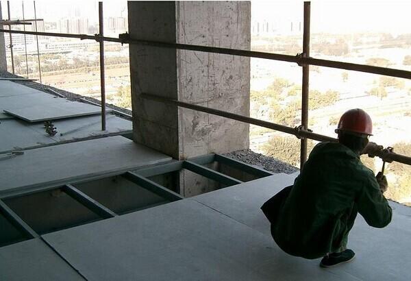 固定水泥纤维墙板的轻钢龙骨框架