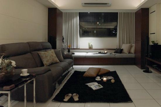 客厅飘窗装修效果图--休息区