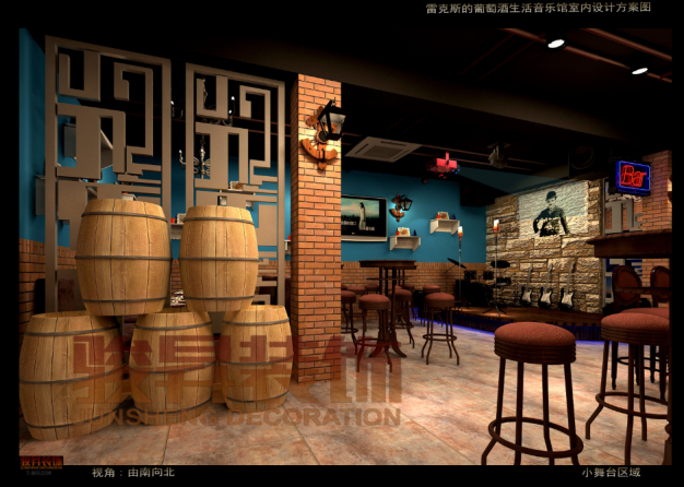 雷克斯的葡萄酒音乐生活馆现代简约装修效果图实景图