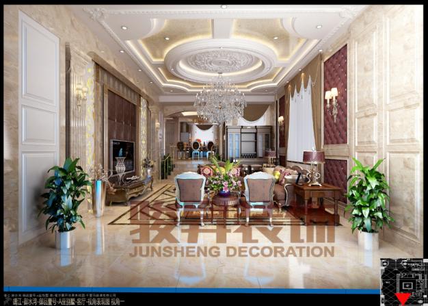 靖江顶级别墅现代简约装修效果图实景图