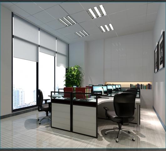 创意园办公室现代简约装修效果图实景图